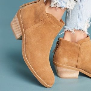 SPLENDID DALE SUEDE ANKLE BOOTS with zipper